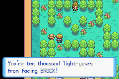 Pokemon Liquid Ocean - brock the hym leaders a girl hahaha mistake!! - User Screenshot